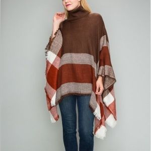 Sweaters - Beautiful Mocha Poncho Top